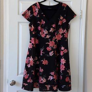 NWOT LANE BRYANT retro style dress & sheer hemline